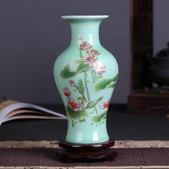 Jingdezhen ceramics shadow blue glaze decoration decoration porcelain lotus flower vases, flower arrangement home guest restaurant