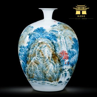 Jingdezhen ceramics celebrity hand-painted master of landscape painting large vases, home furnishing articles villa living room office