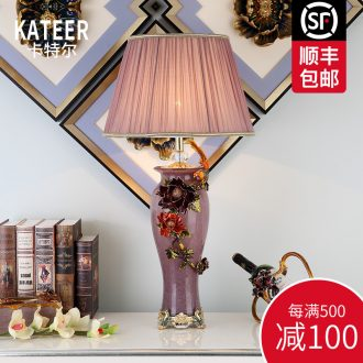 Cartel luxury colored enamel porcelain lamp sitting room classical atmosphere of bedroom the head of a bed the american-style villa lighting