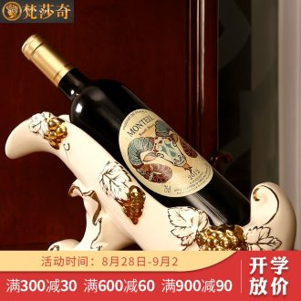 Vatican Sally's luxury european-style wine rack furnishing articles of creative household wine bottle ceramic decoration wedding gift