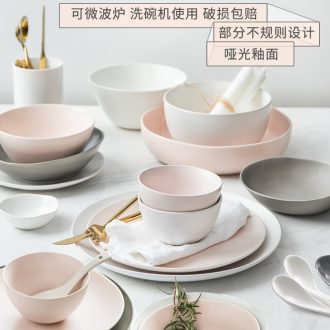 The dishes suit household boreal Europe style ceramic tableware ikea Japanese dishes individuality creative web celebrity contracted ins