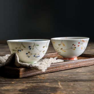 Million jia Japanese Japanese and wind tall bowl of household ceramic tableware to eat small bowl clear soup bowl rainbow noodle bowl