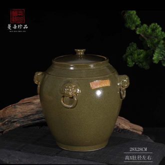 Jingdezhen tea cover pot of archaize of upscale boutique cover pot at the end of the ceramic porcelain pot Chinese style of the ancients