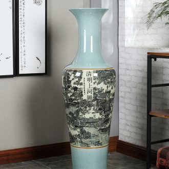 Jingdezhen porcelain ceramics of large vases, flower arranging the hotel Chinese style living room TV cabinet decorative furnishing articles