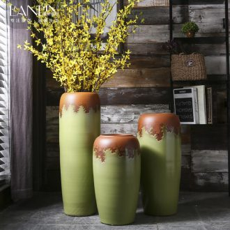 Big vase furnishing articles sitting room ground of modern Chinese style flower dried flowers home sitting room villa hotel ceramic POTS