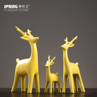 The Nordic creative home wine decorations indoor TV ark place the sitting room porch deer ceramic arts and crafts