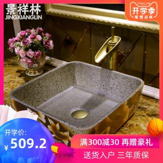 JingXiangLin European contracted jingdezhen traditional manual basin on the lavatory basin & ndash; & ndash; Lotus leaf