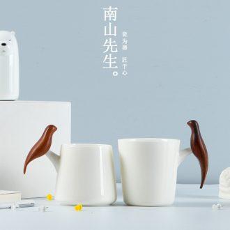 Mr Nan shan colorful glass ceramic mug cup couples creative mug cup custom office home
