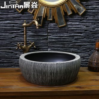 JingYan art on the sink basin ceramic basin is antique Chinese style restoring ancient ways basin hand drawing on 563