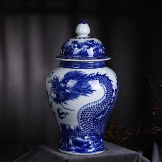 Blue and white porcelain vases, flower arranging new Chinese style porch place jingdezhen ceramics craft household act the role ofing is tasted sitting room decoration