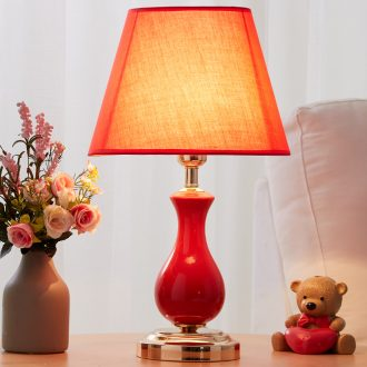 European small desk lamp lamp of bedroom the head of a bed the sitting room is contracted and contemporary American creative fashion warm marriage room ceramic lamp