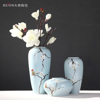 New Chinese style decoration ceramics handicraft home sitting room TV ark vases, flower, flower adornment furnishing articles