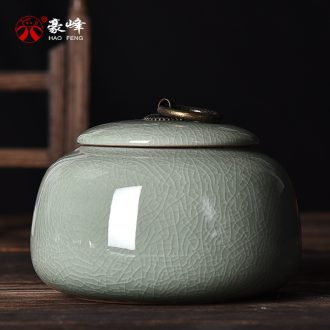 Caddy HaoFeng elder brother kiln ceramic seal tank storage tanks tieguanyin store receives puer tea pot of gift boxes