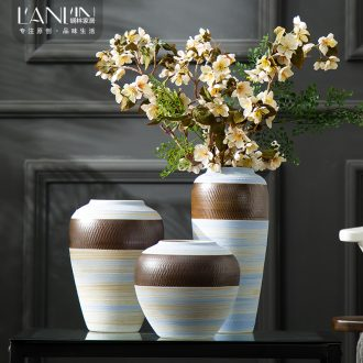 Contemporary and contracted land sitting room creative flower arranging furnishing articles home decoration ceramic dry flower vase floral arrangements
