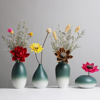 Dry flower vases, ceramic furnishing articles flower arranging implement modern northern small pure and fresh household table sitting room TV cabinet decoration