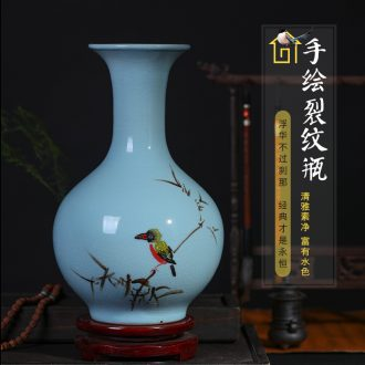 Jingdezhen ceramics Chinese hand-painted ceramic vase furnishing articles sitting room porch flower arranging, home decoration package mail