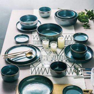 Million jia creative Nordic ceramic tableware, nice rice bowls of household eat salad bowl bowl bowl dish bowl noodle bowl