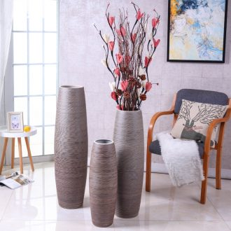 Landing simulation flower vase suit Nordic jingdezhen contemporary and contracted sitting room flower arranging dried flower ceramic large-sized furnishing articles