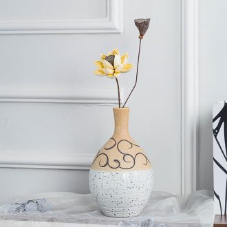 Gagarin's contemporary and contracted handmade ceramic vase household contracted tea table decorative dried flowers flower arrangement, european-style originality