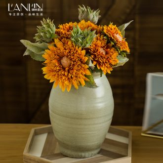 Simulation sunflower sunflower sunflower bouquet vase furnishing articles sitting room table dry flower arranging flowers artificial flowers flower art ceramics