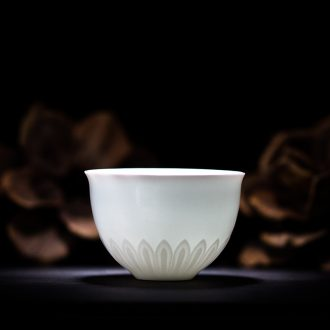 TaoXiChuan jingdezhen ceramic film violet carved mean tire single cup kung fu tea cups master sample tea cup