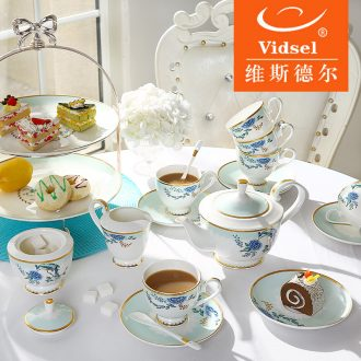 Creative palace coffee set suit European ceramic household English afternoon tea cups of a complete set of coffee cups of tea