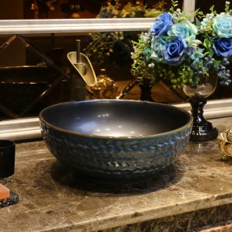 JingYan restoring ancient ways is the stage basin of Chinese style antique art home on the stage of the basin that wash a face the sink round ceramic sinks