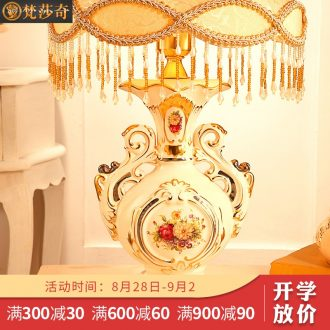 Vatican Sally's luxury european-style desk lamp of bedroom the head of a bed to restore ancient ways rural ceramic lamps and lanterns lighting wedding housewarming gift
