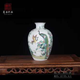 Jingdezhen phoenix vase colorful decorative porcelain ceramic furnishing articles furnishing articles sitting room reveals ark new vase
