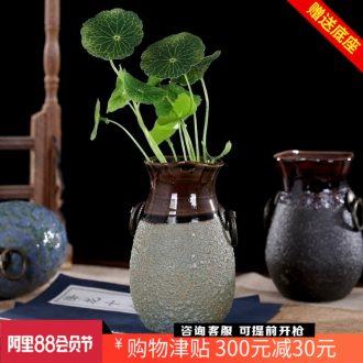 Jingdezhen ceramic fleshy pot basin mesa dried flowers flower arrangement floret bottle study office home sitting room furnishing articles