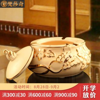 The Vatican Sally's ceramic ashtray with cover European creative ashtray large sitting room place personalization gifts