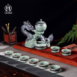 DH jingdezhen kung fu tea set suits domestic lazy automatic ceramic teapot ice to crack your kiln glass cups