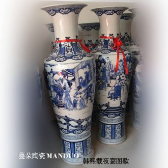 Tendril flower jingdezhen ceramic hand-painted porcelain vase vase of large banquet figure preaching figure