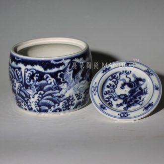 Jingdezhen hand-painted cans of blue and white porcelain dragon of dragon announce cricket cricket cans