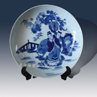 Jingdezhen painting kangxi to foster character decorative porcelain furnishing articles in the qing dynasty painting decorative porcelain