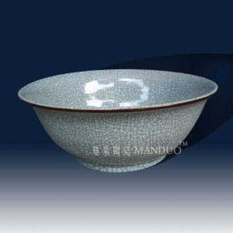 Jingdezhen archaize crack glaze shallow writing brush washer elder brother kiln antique art bowl the tortoise goldfish bowl