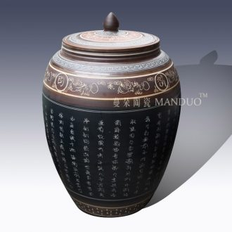 High-grade ancient classical jingdezhen ceramic culture rice jar of barrel of primitive simplicity storage storage tank porcelain