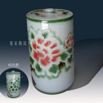 Jingdezhen high-grade straight, cover pot seven scholars of yunnan puer tea pot of tea cake ceramic porcelain tanks