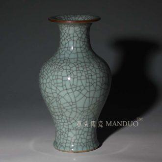 Tendril crack glaze ceramic vase flowers small gourd classical vase elder brother kiln of crack open display vase