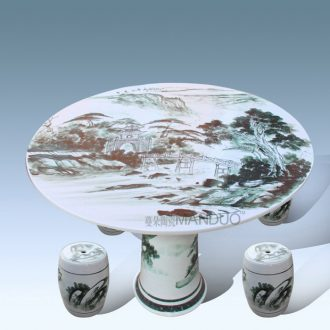 Jingdezhen porcelain ceramic table table decoration supplies ceramic stool balcony ceramic villa garden