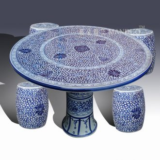 Jingdezhen ceramic table suit high-end classic traditional table suit anti-corrosion is prevented bask in the exhibition hall museum table