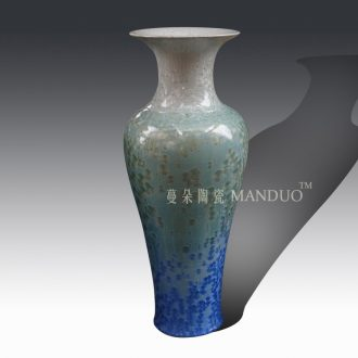 Jingdezhen 1 m crystalline glaze color display vase elegant living room furnishings ice glaze of large vase
