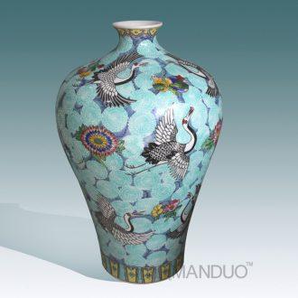 Tendril jingdezhen ceramic hand-painted flowers powder enamel vase high-grade high-grade gift porcelain vase modern decorative furnishing articles