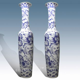 Jingdezhen 3 meters above the ground vase enterprise building door luxury furnishing articles gift ornament