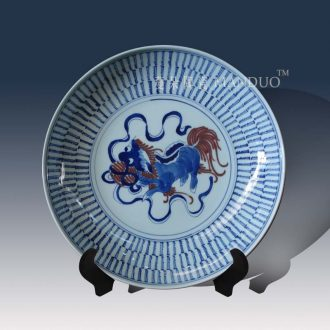Jingdezhen hand-painted decorative porcelain lion furnishing articles archaize life of word hand-painted porcelain kangxi in the qing dynasty porcelain lion