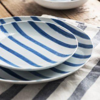 Ijarl million jia Japanese creative household ceramics ceramic plate fresh beef dish dish to Karen FanPan plate
