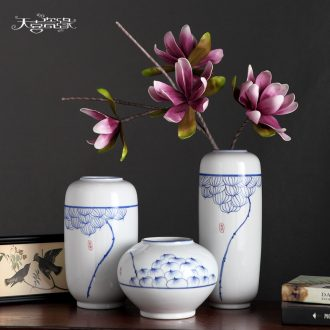 Jingdezhen Chinese pottery and porcelain vase household act the role ofing is tasted furnishing articles flower arrangement of contemporary sitting room decoration decoration arts and crafts