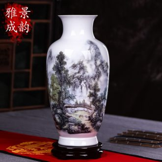 Jingdezhen ceramics vase household act the role ofing is tasted furnishing articles of handicraft art contemporary and contracted sitting room adornment