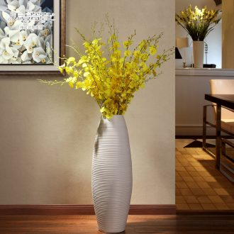 Large European modern ceramics vase creative hotel living room TV ark home furnishing articles POTS dry flower art