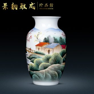 Jingdezhen ceramic hand-painted ceramic vase celebrity famous Bridges porcelain modern home furnishing articles